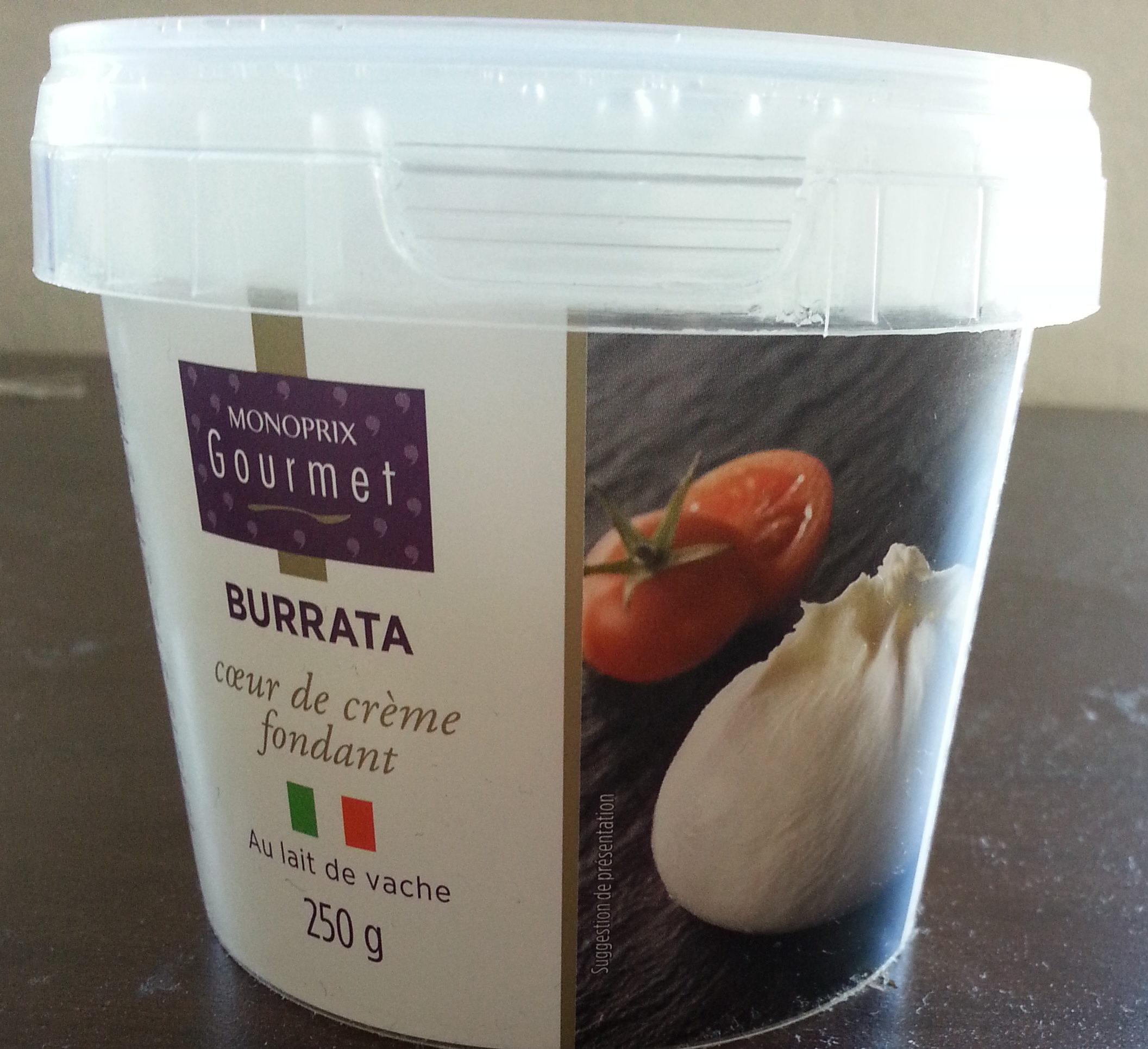 Burrata au lait de vache (17% MG) - Monoprix gourmet - 250 g
